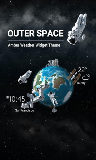 3D Outer-space Weather Widget