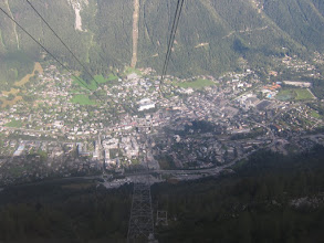 Photo: Oops, we'd better get back down to Chamonix. Debbi, Carole, and Stuart, are coming in around 11 am and we are supposed to start our hike today!