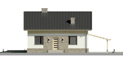 Dom przy Imbirowej 4 N - Elewacja przednia
