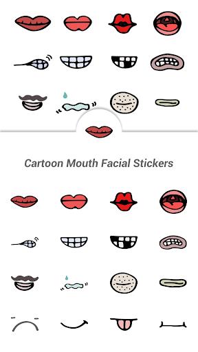Cartoon Mouth Facial Stickers