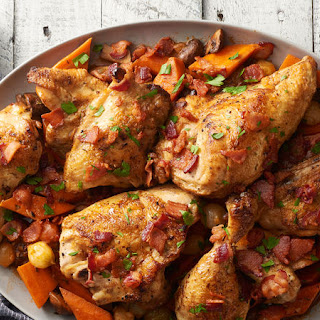 Slow-Cooker Savory Roast Chicken and Vegetables Recipe