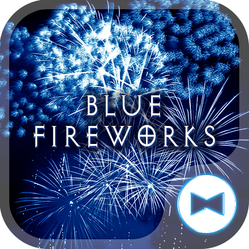 Cool Wallpaper Blue Fireworks Theme Icon