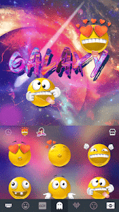 Galaxy Emoji keyboard Theme screenshot 3