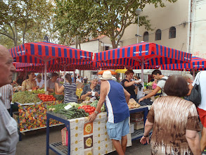Photo: Food market in Split