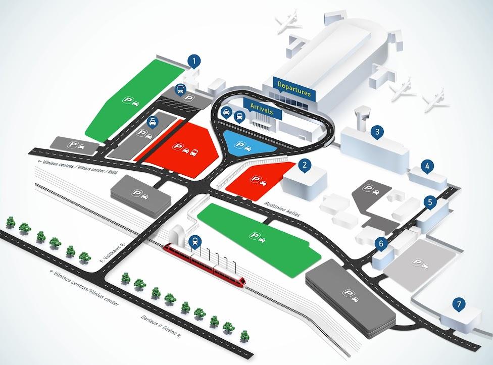 Wilno, lotnisko, port lotniczy, plan lotniska