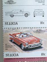 Photo: Eine Briefmarke aus meiner '57 Bel Air Sammlung aus St. Lucia.