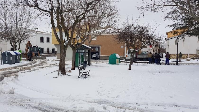 Chirivel, una de las localidades que 'Gloria' tinó de blanco.