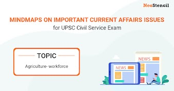 UPSC Current Affairs Issues - Mindmap : Agriculture Workforce