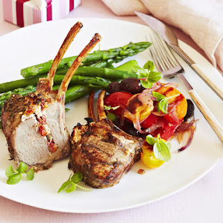 Stuffed Rack of Lamb with Baby Tomato Salsa