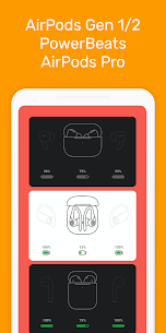 MaterialPods PRO MOD APK (AirPod battery app) [Pro Features Unlocked] 2