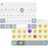 Simple White Emoji iKeyboard
