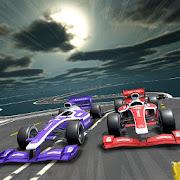 Car stunt racing Formula cars