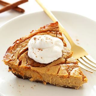Vegan Pumpkin Swirl Cheesecake