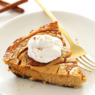 Vegan Pumpkin Swirl Cheesecake.