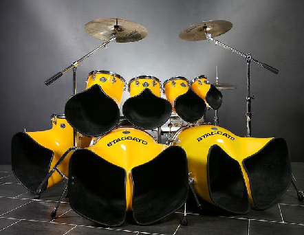 Unique looking drum kit