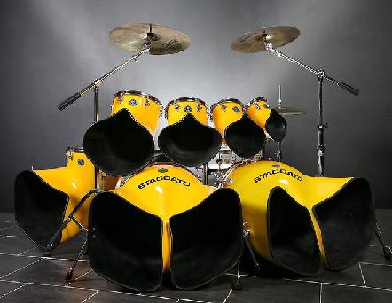 Unique looking drum kit