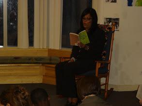 Photo: Micah Materre reads aloud Sahara Special.