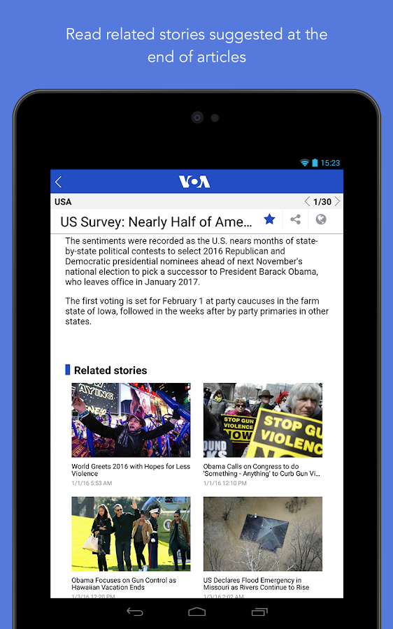 VOA News- screenshot