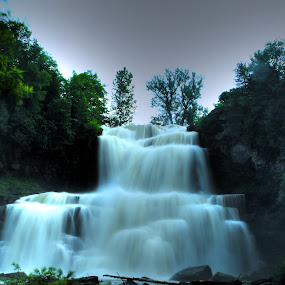 Peaceful Waterfall by Nicholas Cain - Nature Up Close Water