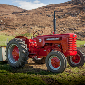 Red Tractor by John Walton - Transportation Other ( #tractor, #heritagefocus, #classic )