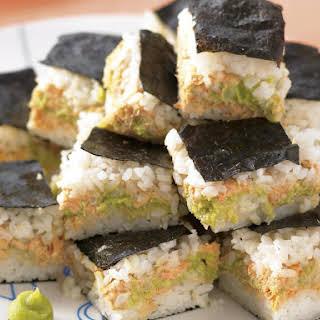 Salmon Sushi Bites.