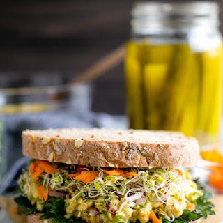 Smashed Chickpea Salad Sandwich.