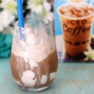 Cinnamon Vanilla Upside Down Iced Coffee!