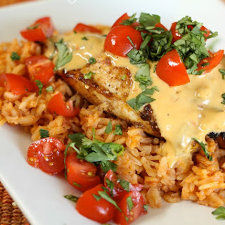 Cheesy Grilled Mexican Chicken.