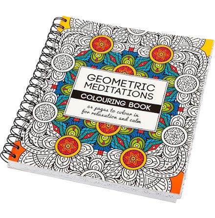Målarbok Geometric antistress