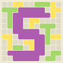 Surface Trimino: increase the area. Casual game. icon