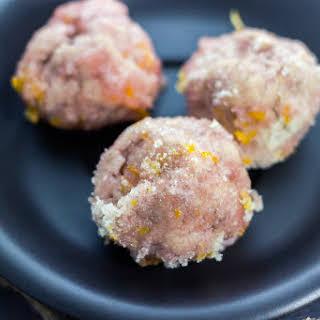 Orange Snowball Cookies.