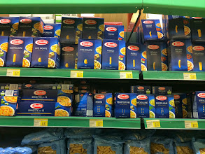 Photo: A snapshot of the many kinds of pasta available. Shapes I've never heard of.