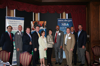 Photo: Chris Hurn with all the past Orlando Small Business Administration Award winners 2010 www.504Blog.com