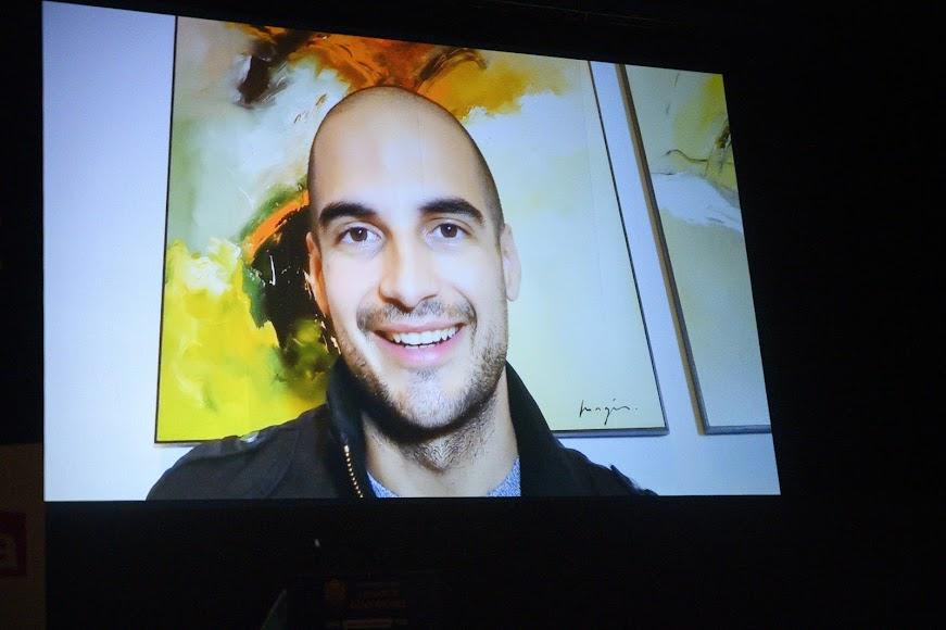 Álvaro Ceregido, periodista que recibe el Premio Comunicación y Artes, no ha podido asistir al acto.
