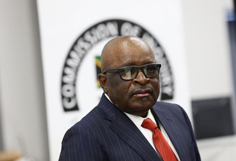 Former minister advocate Ngoako Ramatlhodi at the state capture inquiry in Parktown, Johannesburg, on November 28 2018.