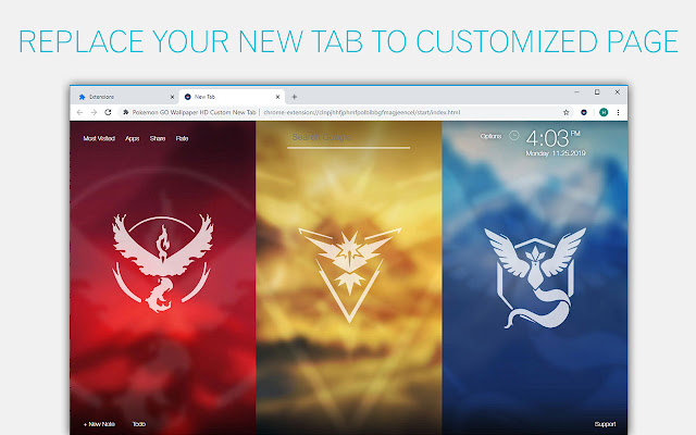 Pokemon GO Wallpaper HD Custom New Tab