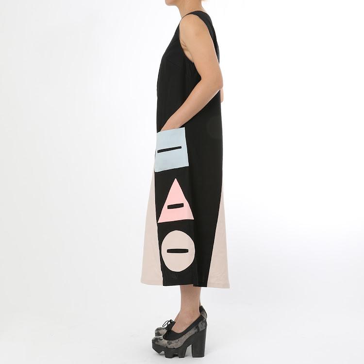 Shiro Geometrical Long Dress