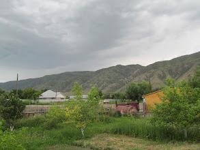 Photo: View from the yard of the house where we slept