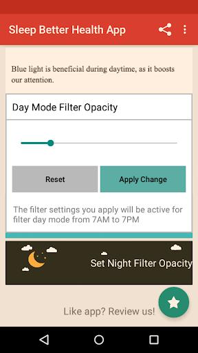 Night Shift: Blue Light Filter  screenshots 2