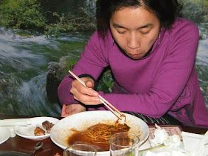 Photo: ema finishing dinner.