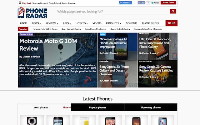 PhoneRadar News