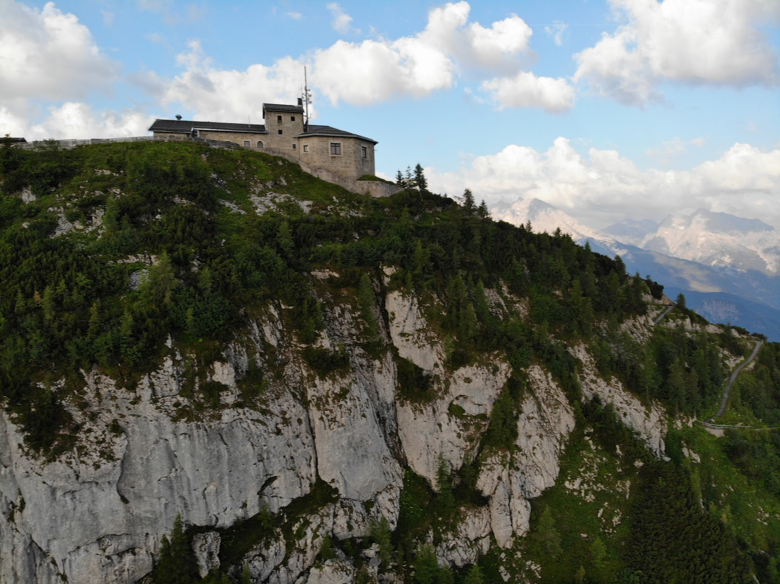 Cycling Kehlsteinhaus - Eagles Nest - Aerial Drone Photo