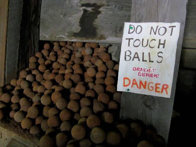 Do not touch balls, Derek