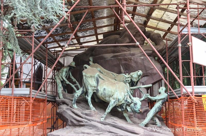 Cimetière Monumental Milan - Boeufs au labour