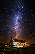 """Photo: The Church of the Good Shepherd under the stars  For you camera nerds (Like me!) here is the EXIF: ISO 5000, 16mm (prime fisheye), Nikon D800, f/2.8, 25 second exposure.  This is one of The Darkest Skies in the World. You may find this snippet interesting: """"A delegation from the country has successfully petitioned UNESCO for the protection of 'sky-scapes' as well as landscapes under their World Heritage system, in order to see the status granted to the air above Tekapo and Aoraki Mount Cook."""" I had a great time here along with +Scott Kublin+Karen Huttonand +Curtis Simmons!"""