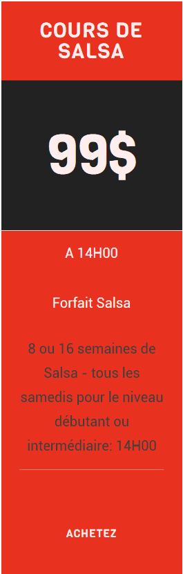 cours salsa danse Lasalle