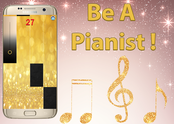 Gold Piano Tiles 2 - screenshot