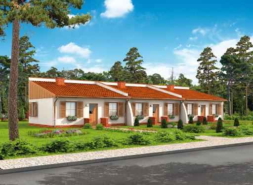 projekt Lublana 2 C dom mieszkalny (zabudowa szeregowa)