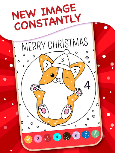 Happy Kids Christmas Coloring Book By Numbers apkpoly screenshots 4