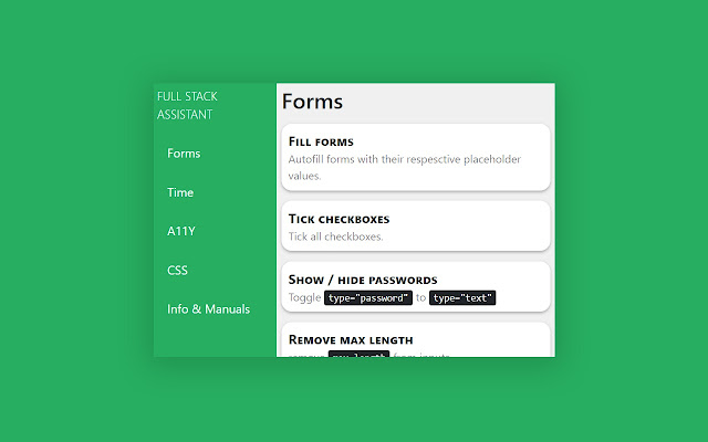 Full-Stack Assistant - Developer Tools